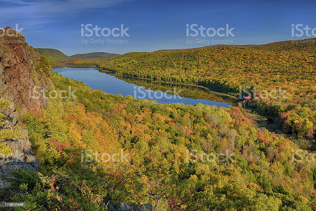 Lake of the clouds in Autumn. stock photo