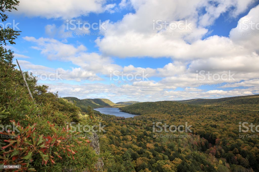 Lake of the Clouds in Michigan's Porcupine Mountains, USA stock photo