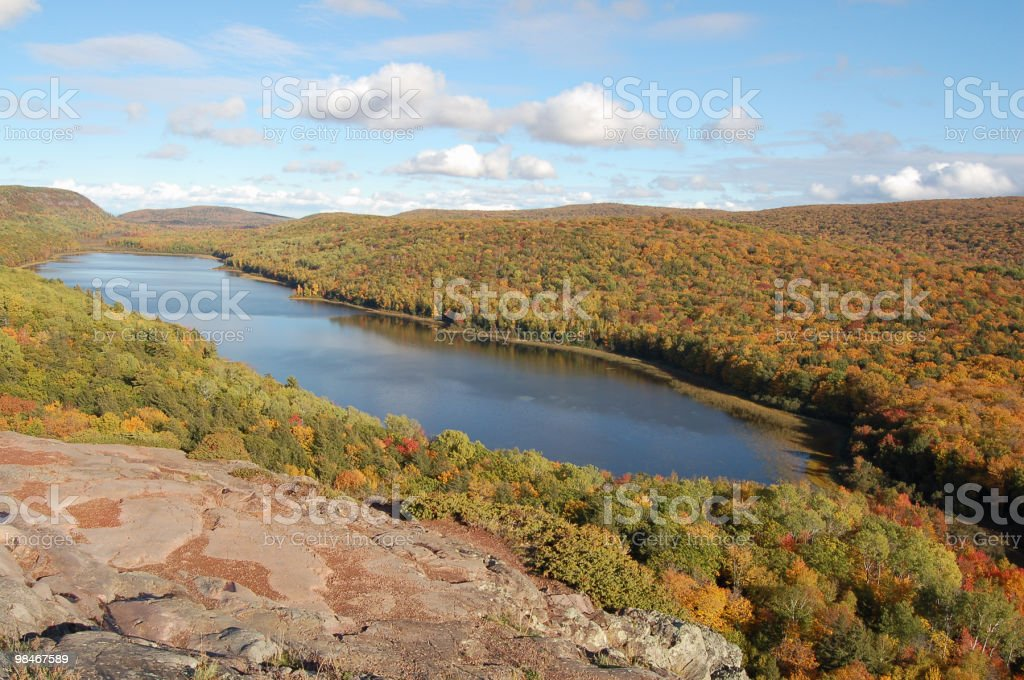 Lake of the Clouds royalty-free stock photo