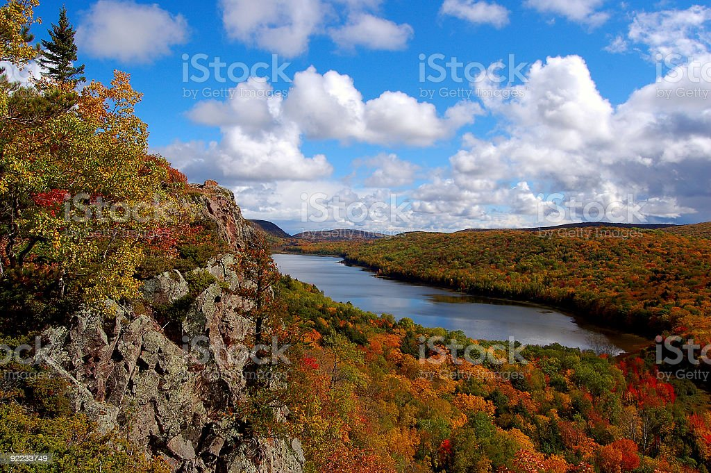 Lake of the Clouds, Upper Peninsula Michigan stock photo