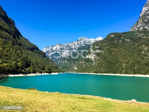 istock Lake of the Mis, in the valley of the Mis -National park of the Dolomites 1026787030