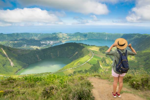 See der sieben Städte - Lagoa Das Sete Cidades-Insel Sao Miguel, Azoren, Portugal – Foto