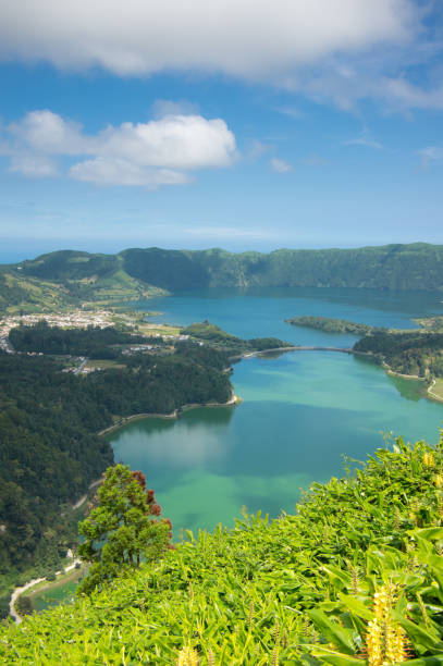 See der sieben Städte-lagoa das sete cidades-Insel Sao Miguel, Azoren, Portugal – Foto