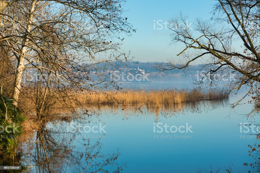 Lake of Varese in autumn season royalty-free stock photo