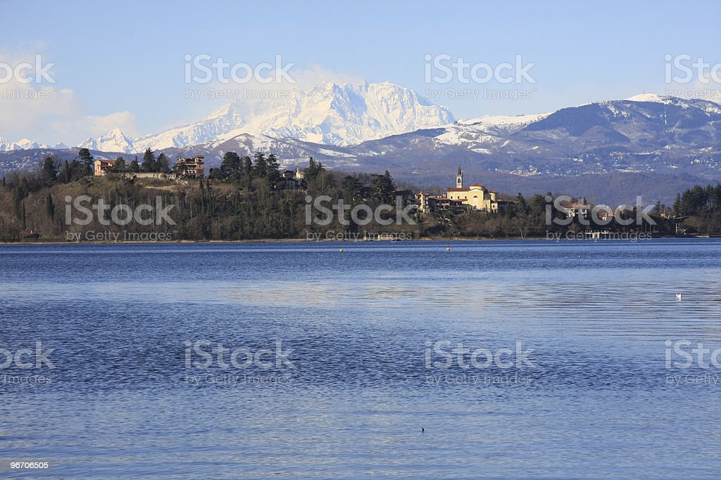 Lake of Varese, Lombardy, Italy stock photo