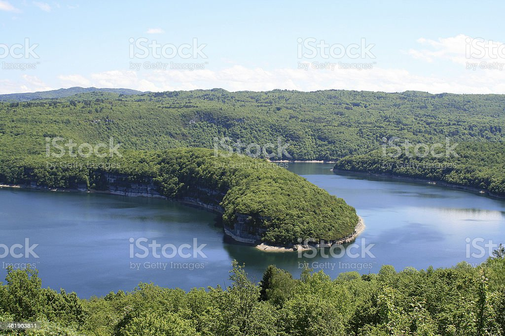 Lake of Vouglans stock photo