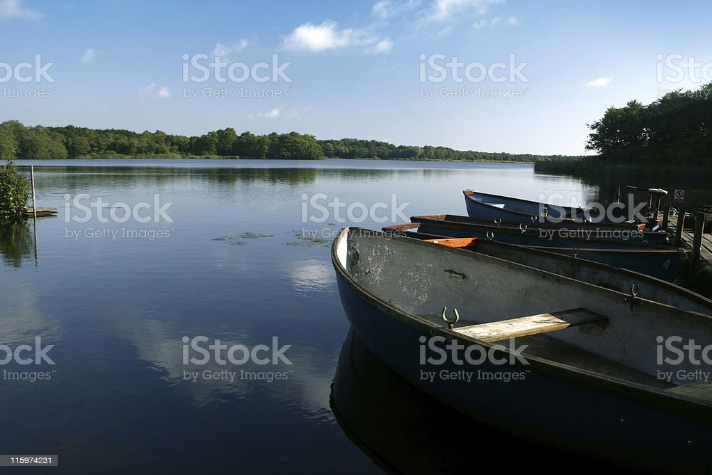 lake on a still morning royalty-free stock photo