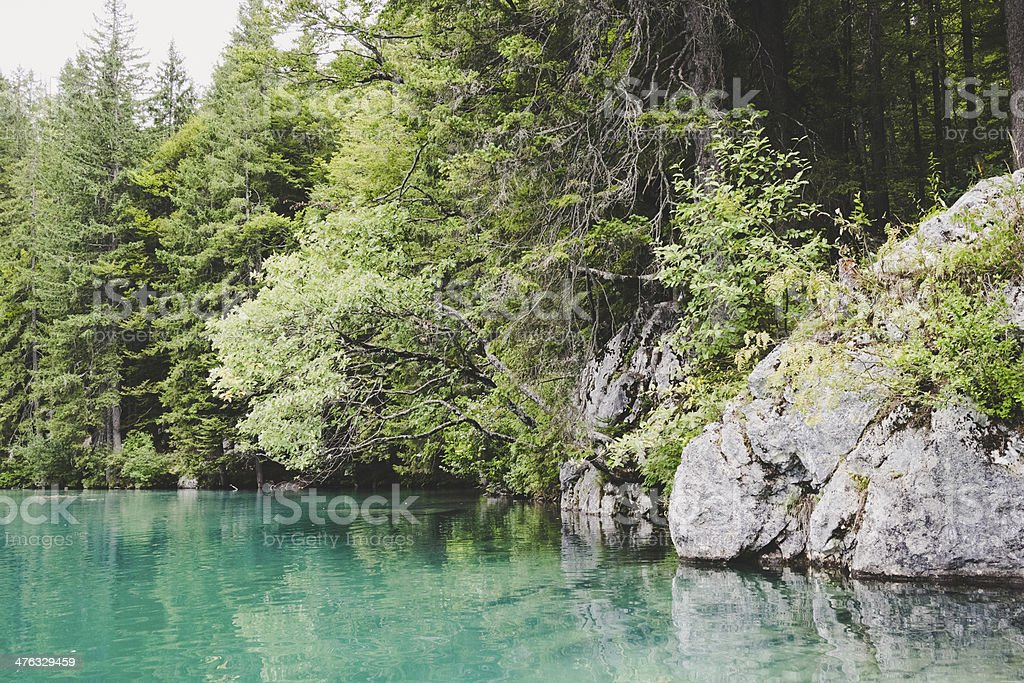 Lake on mountains royalty-free stock photo
