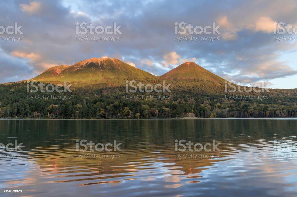 Lake Onneto in autumn royalty-free stock photo