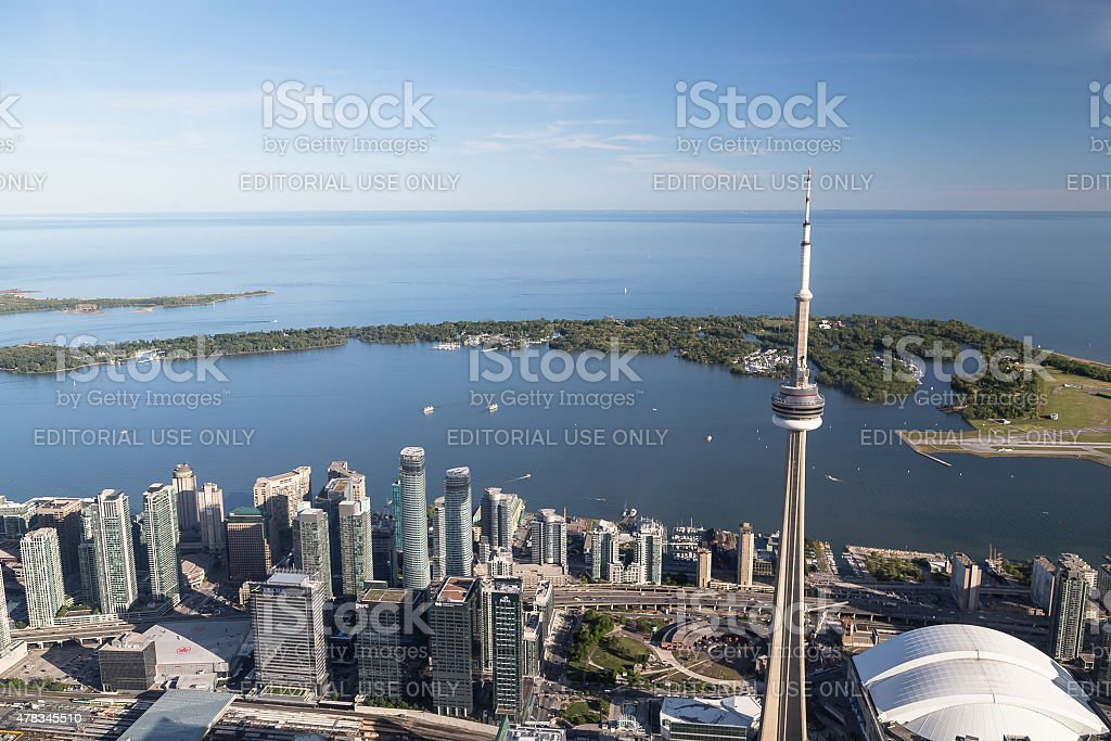 Lake Ontario from Toronto stock photo