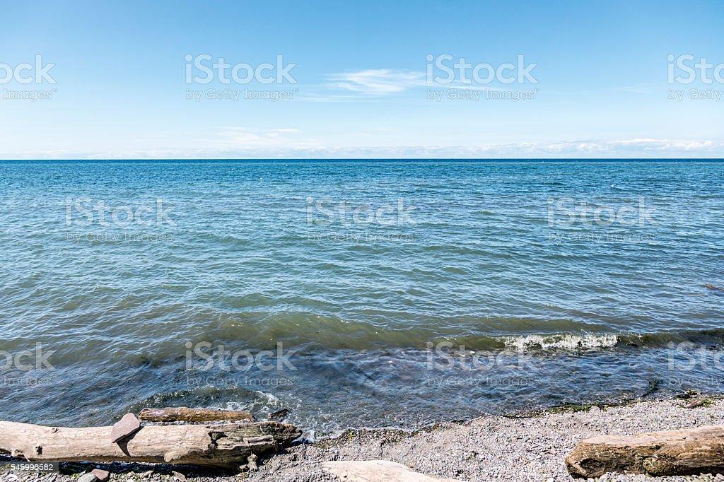 Lake Ontario Great Lakes Seascape and Horizon stock photo