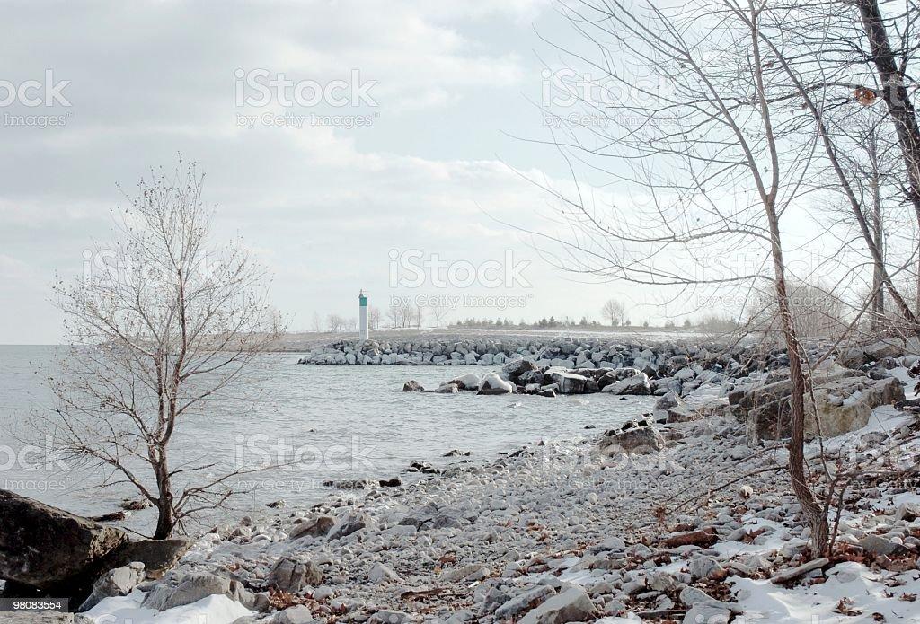 Lake Ontario Winter royalty-free stock photo