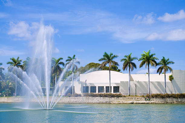 Lake Osceola at University of Miami in Coral Gables, FL stock photo