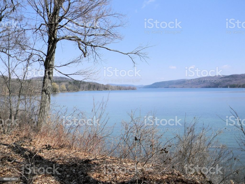 Lake Otsego in April foto stock royalty-free