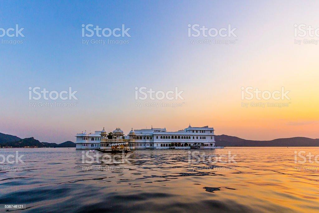 Lake Palace, Jagniwas island, Udaipur, Rajasthan, India stock photo