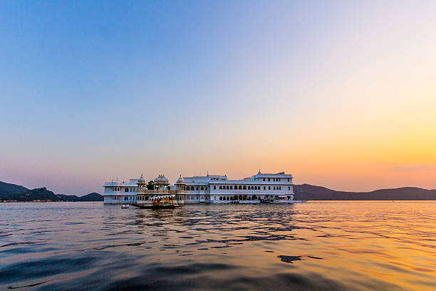 Lake Palace, Jagniwas island, Udaipur, Rajasthan, India The Lake Palace, Udaipur Rajasthan lake palace stock pictures, royalty-free photos & images