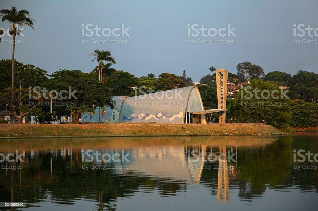 Lake Pamulha, Belo Horizonte, Minas Gerais, Brazil stock photo