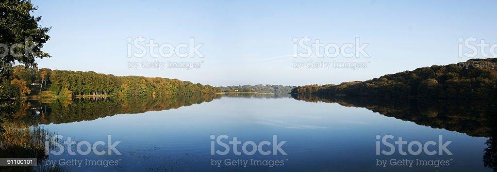 Lake panorama XL stock photo
