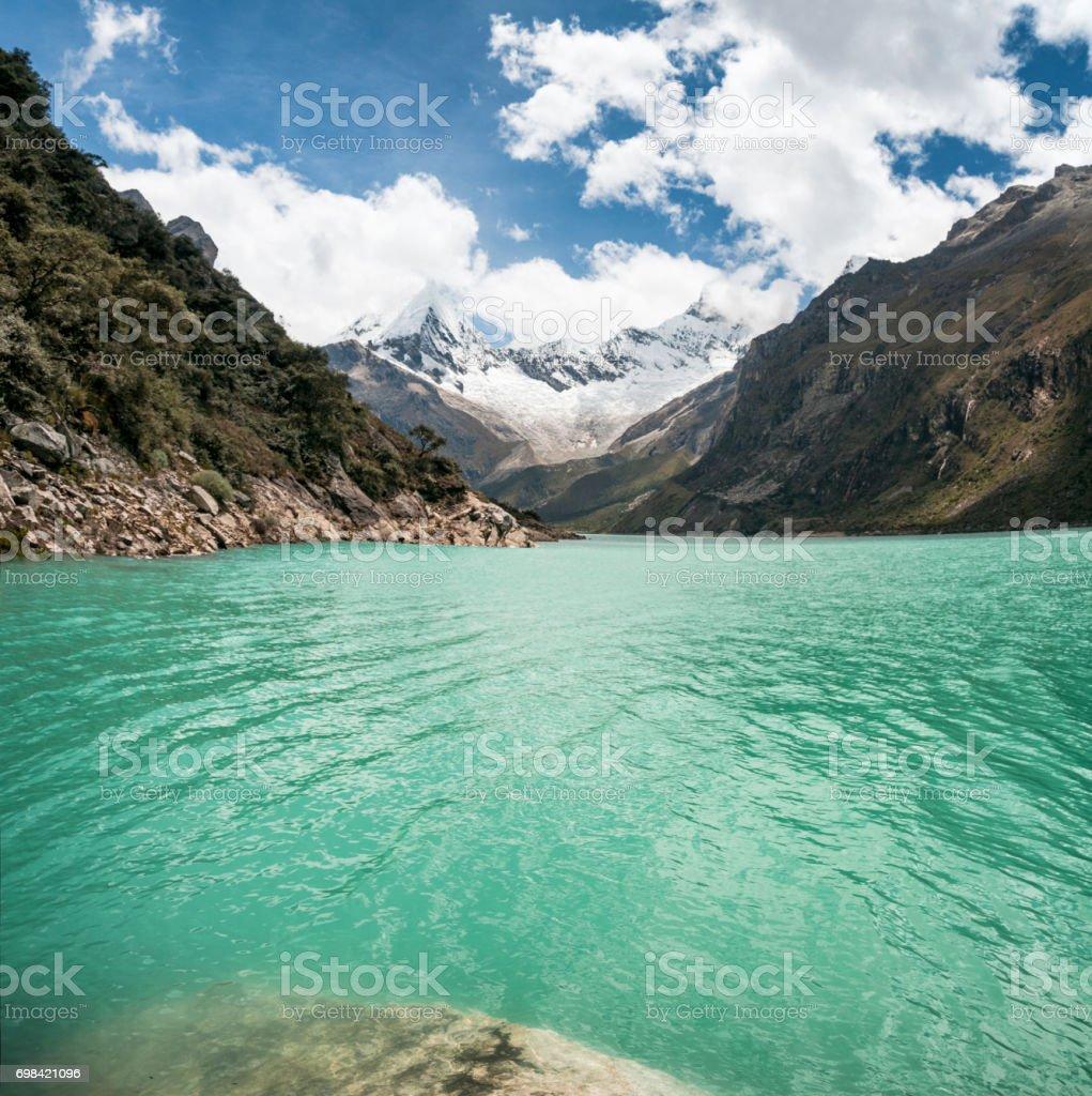 Lake Paron In Peru stock photo