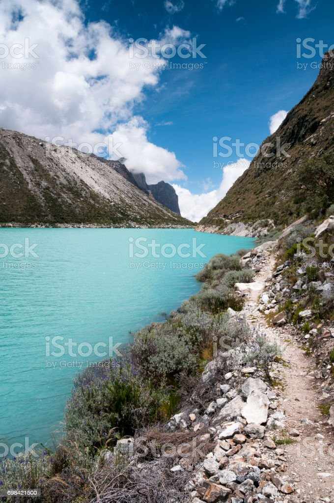 Lake Paron In The Andes Of Peru stock photo