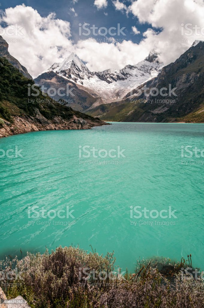 Lake Paron In The Peruvian Andes stock photo