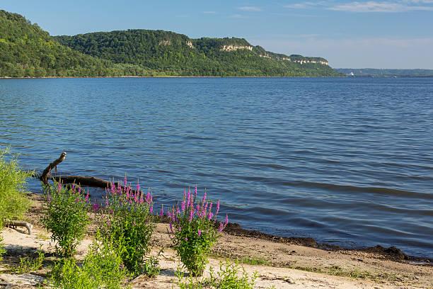 Lake Pepin On Mississippi River stock photo