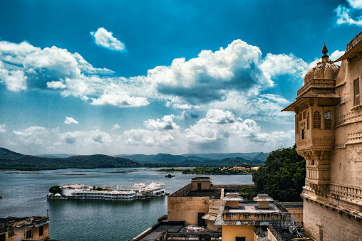 Lake Pichola View from the  Udaipur City Palace