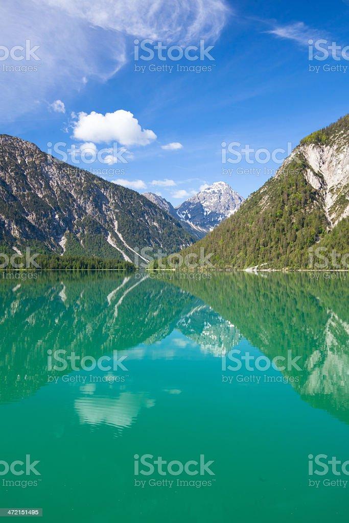 lake plansee in tirol, austria royalty-free stock photo