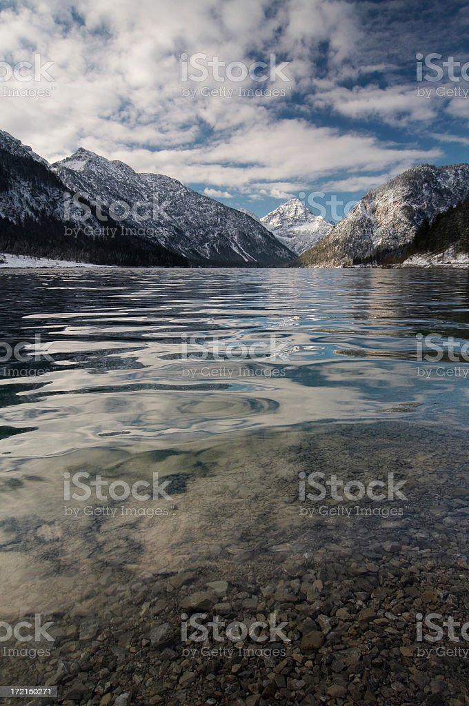 lake plansee in winter #4 royalty-free stock photo
