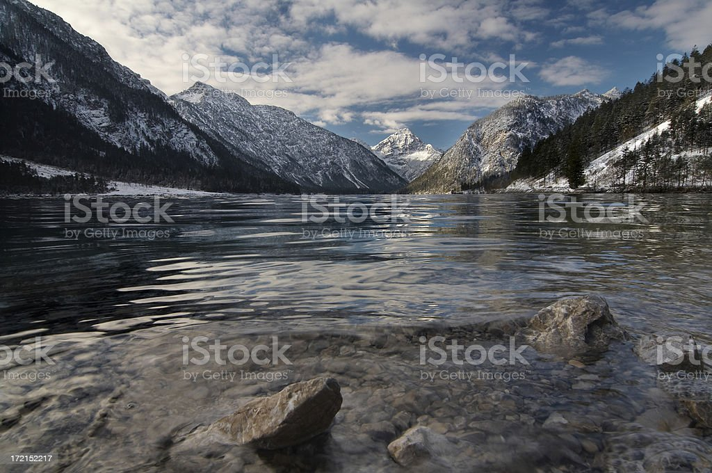 lake plansee in winter #2 royalty-free stock photo