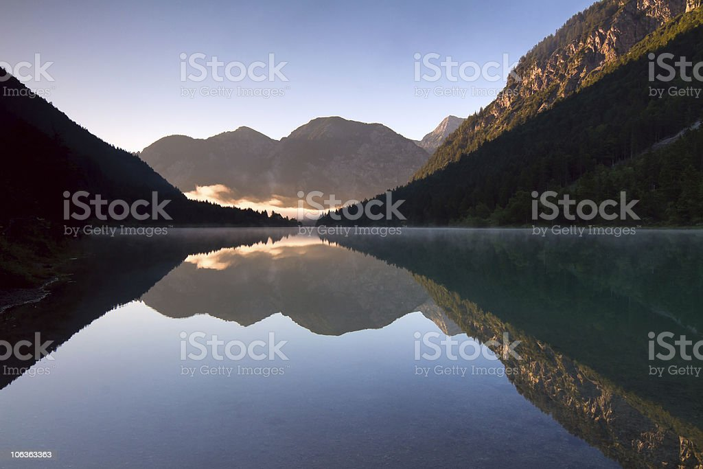 Lake Plansee royalty-free stock photo