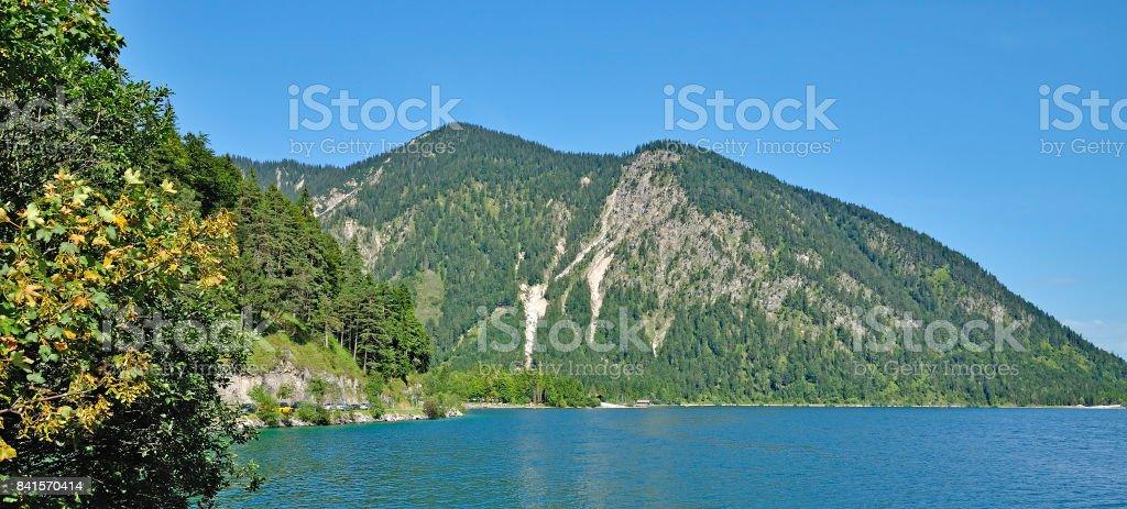 Lake Plansee,Reutte,Tirol,Austria stock photo