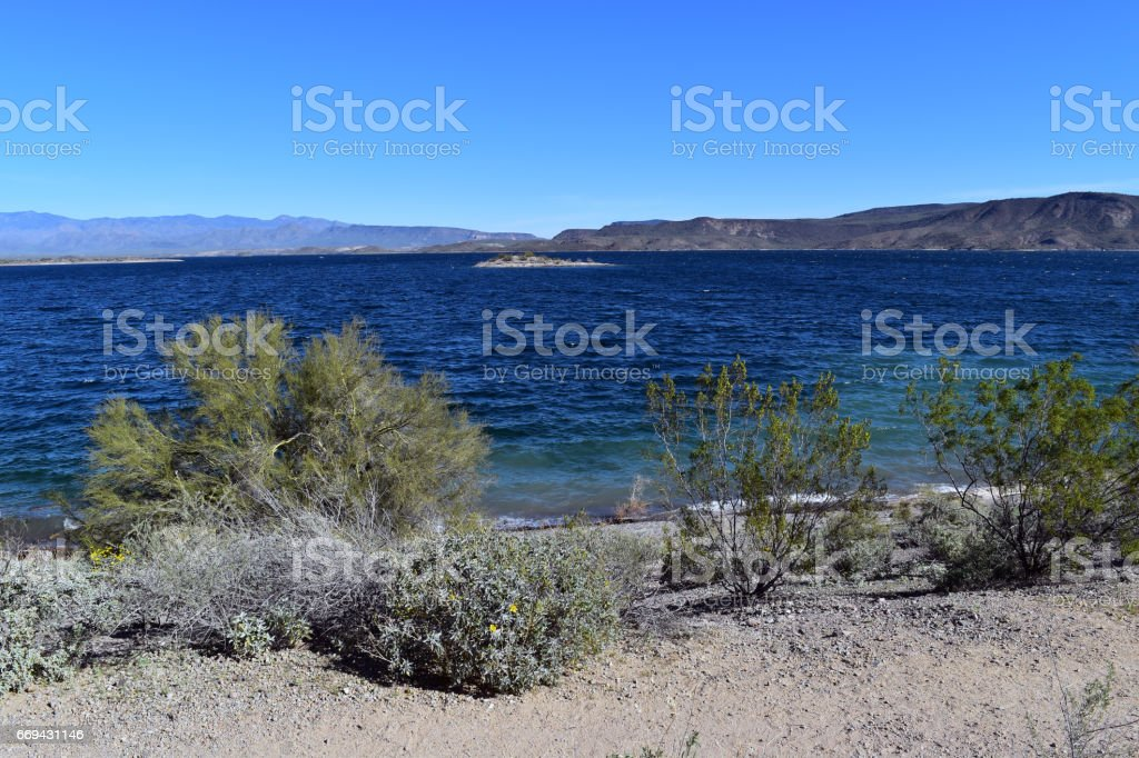 Lake Pleasant stock photo