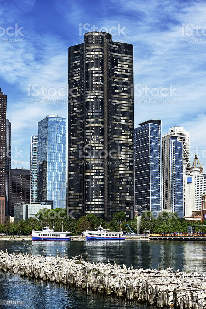 Lake Point Tower in Streeterville, Chicago stock photo