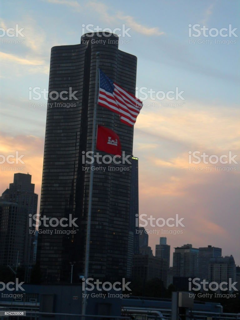 Lake Point Tower stock photo
