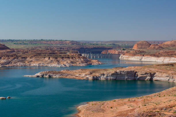 Lake Powell and Glen Canyon near Page in Arizona, USA Lake Powell and Glen Canyon near Page in Arizona, USA page arizona stock pictures, royalty-free photos & images
