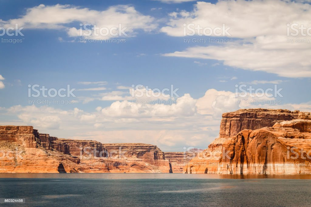 Lake Powell and Glen Canyon Rock Formations stock photo