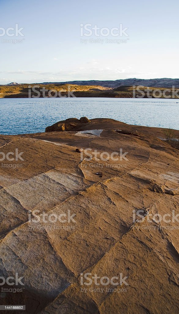Lake Powell Checkered Rock royalty-free stock photo