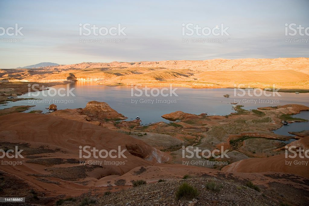 Lake Powell Eater and Rock Overlook royalty-free stock photo