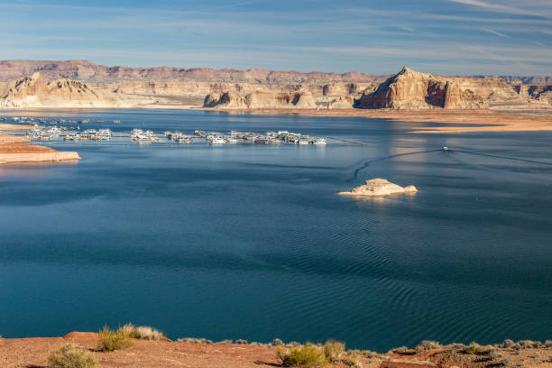 Lake Powell In Arizona Lake Powell In Arizona page arizona stock pictures, royalty-free photos & images