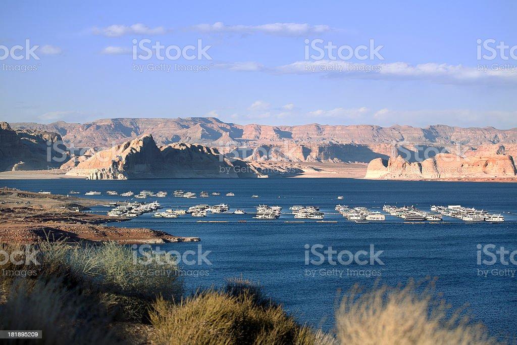 Lake Powell in Glen Canyon recreation Area royalty-free stock photo
