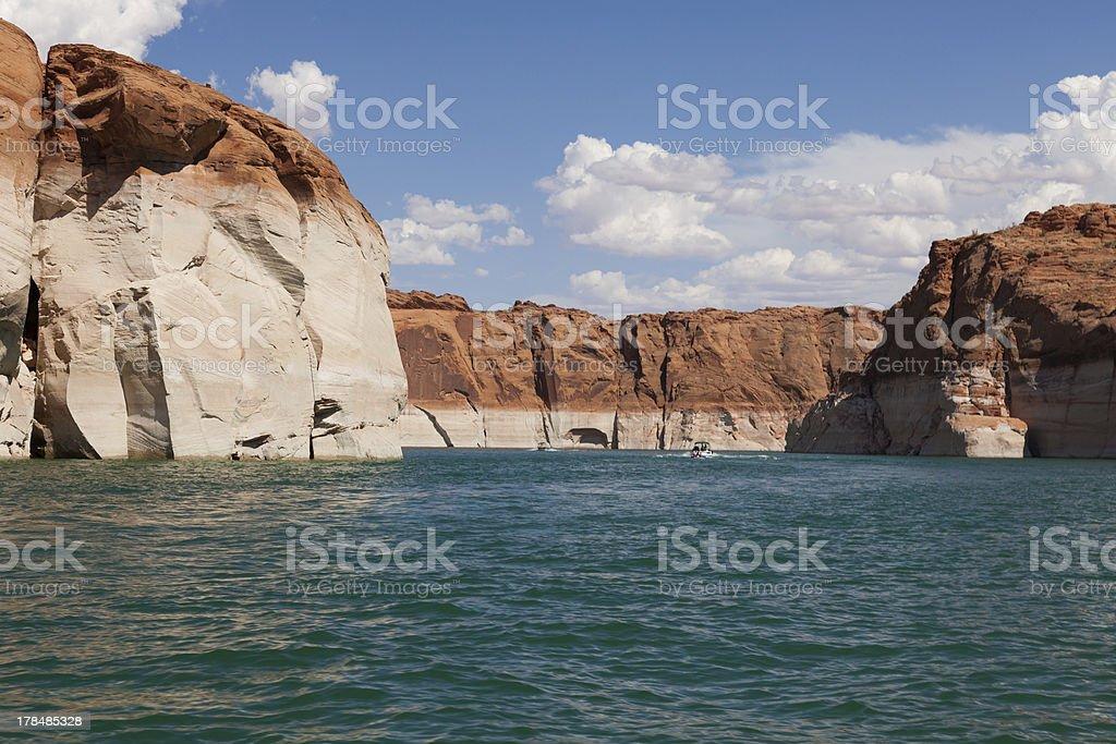 Lake Powell, in Glen Canyon, Utah, Arizona stock photo