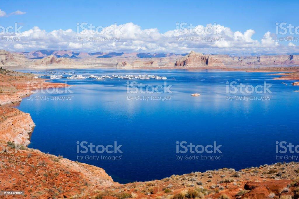 Lake Powell Marina stock photo