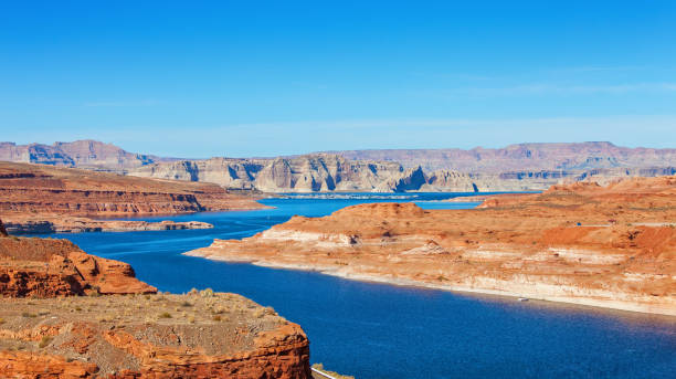 Lake Powell on the border between Utah and Arizona, United States. Lake Powell on the border between Utah and Arizona, United States. lake powell stock pictures, royalty-free photos & images