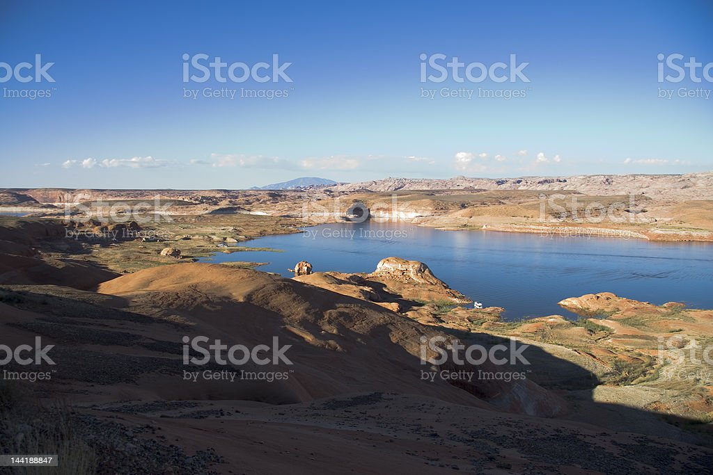 Lake Powell Overlook at Sunrise royalty-free stock photo