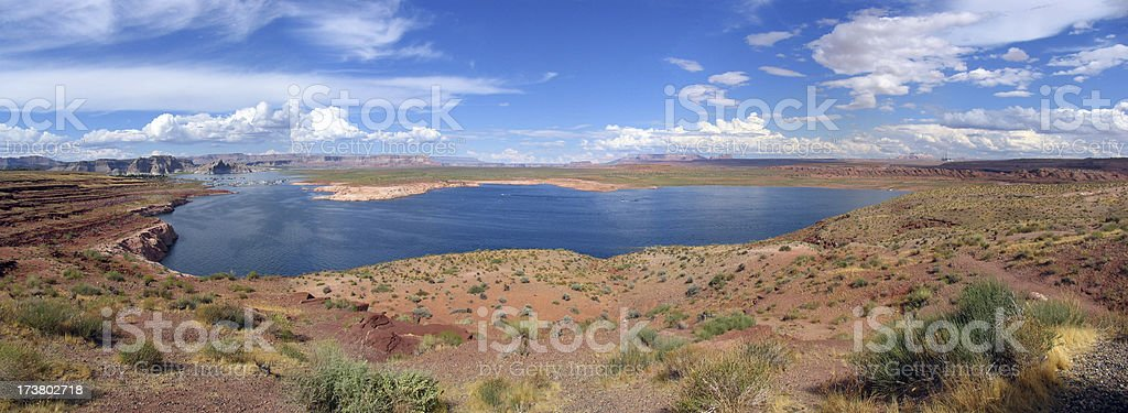Lake powell panorama royalty-free stock photo