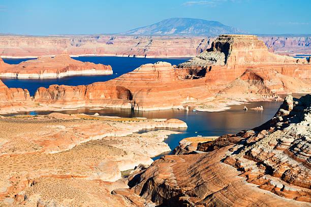 lake powell lake Powell and Glen Canyon, Arizona and Utah, USA lake powell stock pictures, royalty-free photos & images