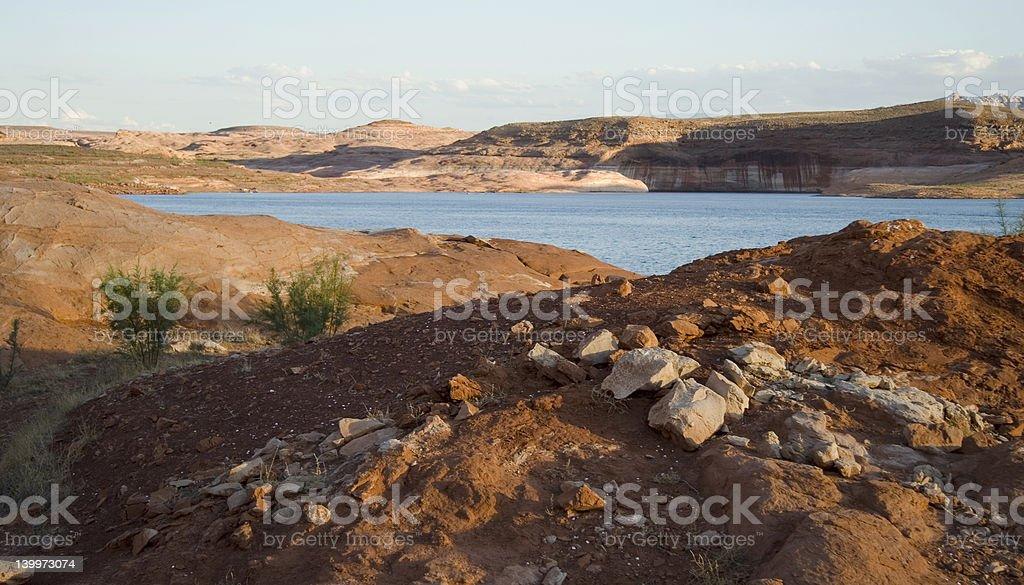 Lake Powell Red Rocks royalty-free stock photo