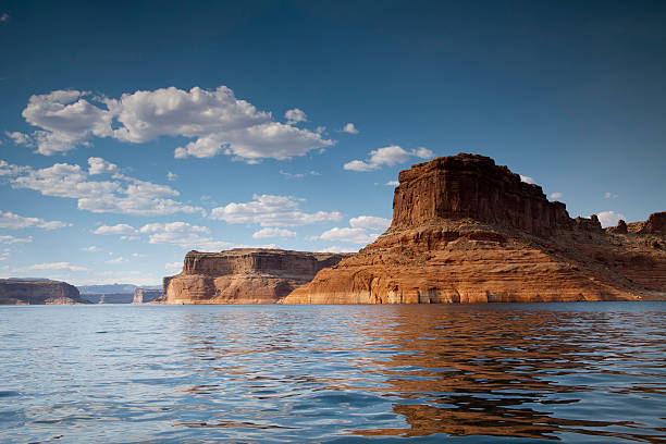 Lake Powell Rock Formation stock photo