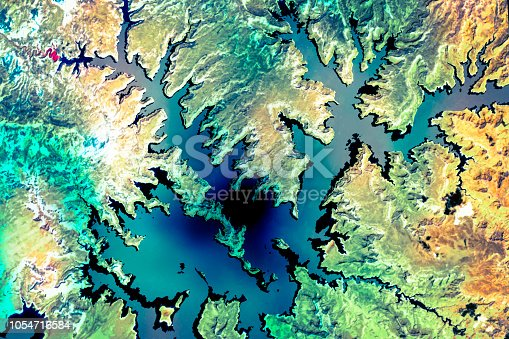 istock Lake Powell. Satellite view. Elements of this image furnished by NASA. 1054716584